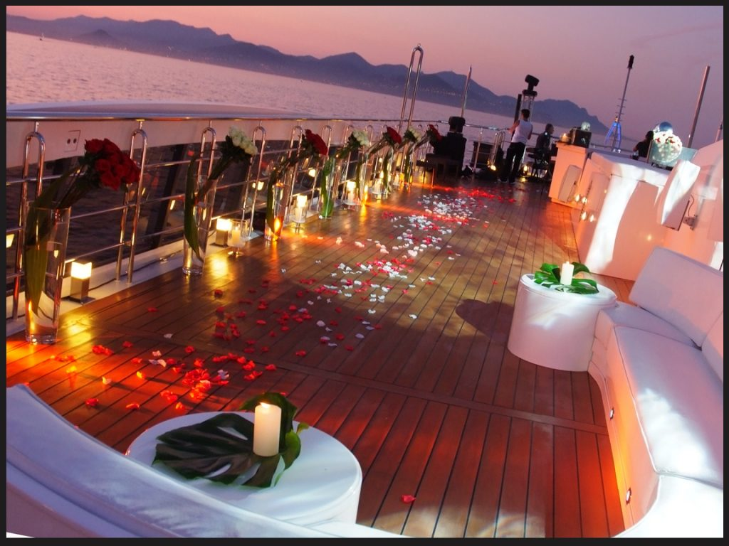 yacht decoration for wedding