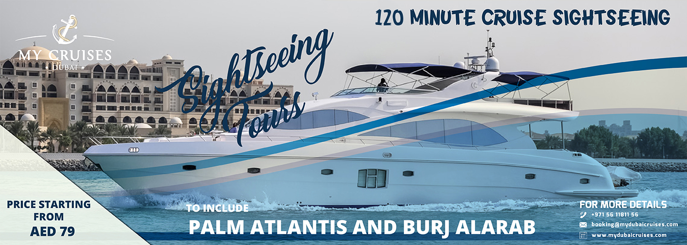 120 minute cruise sightseeing in Dubai